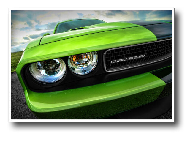 2011 DODGE CHALLENGER SRT8 392 SPORTS MUSCLE CAR POSTER PRINT 24x36 HI RES 9 MIL