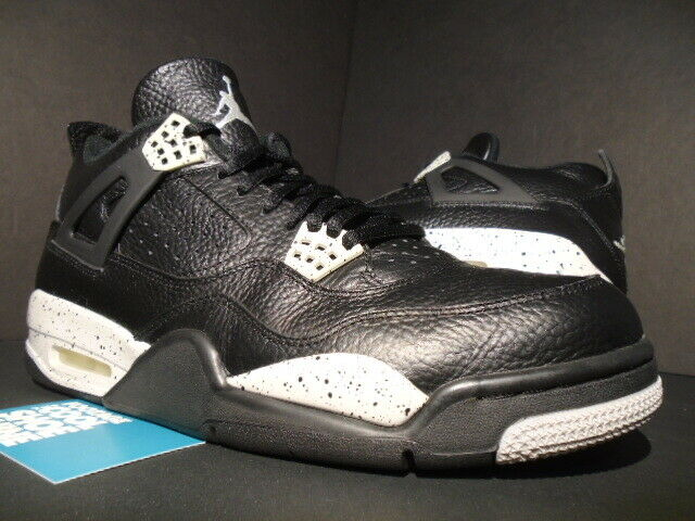 NIKE AIR JORDAN IV 4 RETRO LS OREO schwarz COOL TECH grau CEMENT 314254-003 10.5