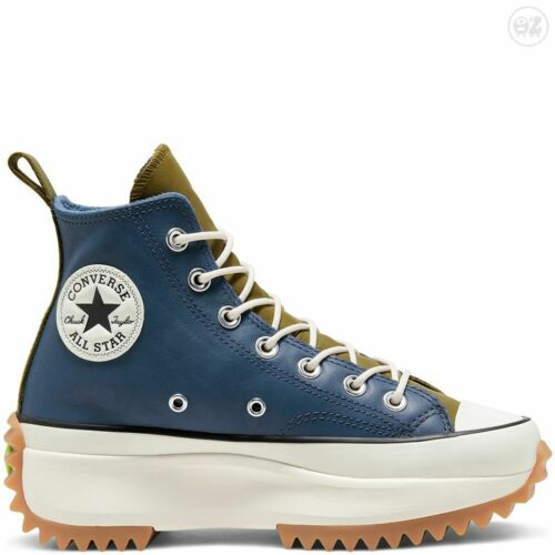 Converse Run Star Hike High Top Navy Dark Moss