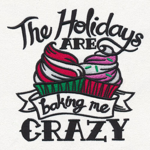 christmas holiday baking me crazy SET OF 2 BATH HAND TOWELS EMBROIDERED BY LAURA