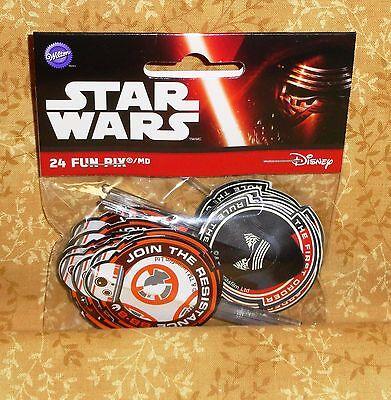 Home & Garden Star Wars Vii,the Force Awakens,cupcake Picks,wilton,24ct.2113-5080,multi-color Nourishing Blood And Adjusting Spirit