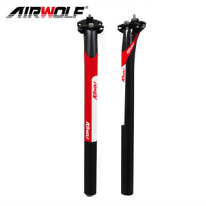 AIRWOLF Carbon Fiber Seatpost Bicycle MTB Road Bike Seat Post 27.2//30.8//31.6mm