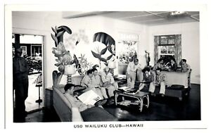 RPPC-WWII-Era-USO-Wailuku-Club-Hawaii-Real-Photo-Postcard-5D