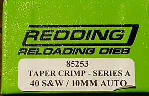 85253 REDDING 40 S & Avec 10 mm auto Taper Crimp Die-Brand new-Free Ship-afficher le titre d`origine ubQF9d8Y-07143539-970599734