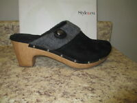 Style & Co. Gentle Clogs 10 M Black Synthetic With Box