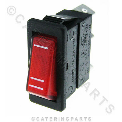 00032 GENUINE DUALIT 1 /& 2 SLOT SELECTOR SWITCH 230 VOLT 3 PIN RED NEON ROCKER