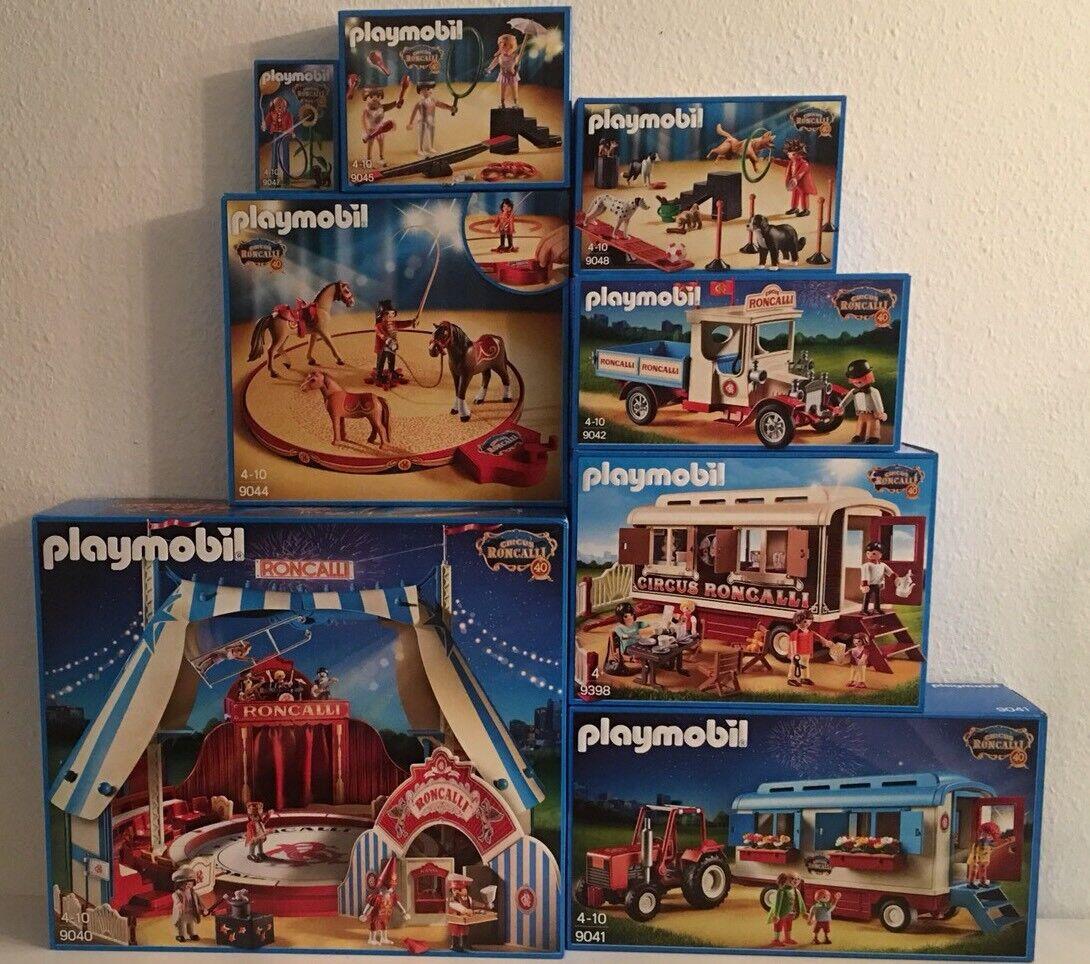 NEU Playmobil Zirkus Roncalli Komplettset 9040 9398 Café des Artistes 9041 9042