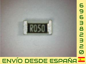 5 x RESISTENCIA SMD 0.05 OHM 1206 1/% NUEVO NEW