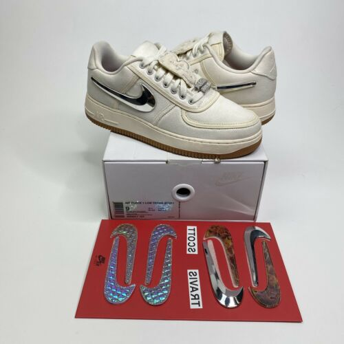 Nike Air Force 1 Low Travis Scott Sail Size 9 Cact
