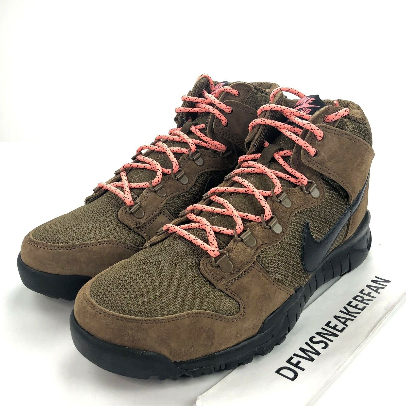 Nike SB Dunk High Boots Men's Size 9.5 Military Brown Black 536182-203 New
