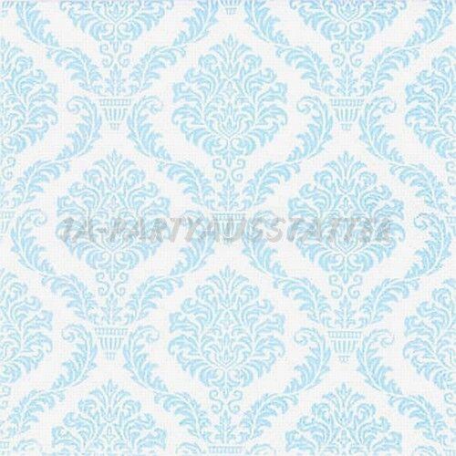 Servietten Elegant Baby blau 20 Stk 33x33 cm Geburt Taufe Junge Tissue Party