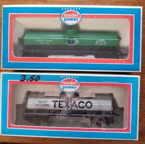 HO-Scale-Model-Power-Set-of-2-Tank-Cars-in-Boxes-13i