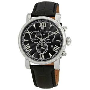 S-Coifman-SC0297-43mm-Quartz-Chronograph-Date-Leather-Strap-Mens-Watch