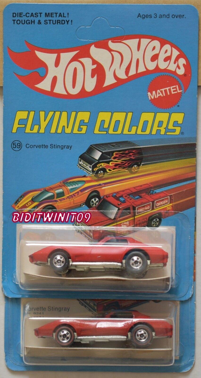 Hot Wheels 1997 Flying Couleurs Couleurs Couleurs Corvette StinGris  1975 & Roues Variation W   France  7a64aa