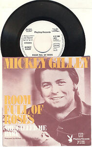 7&quot; Single Schallplatte MICKEY GILLEY - ROOM FUILL OF ROSES - <span itemprop=availableAtOrFrom>Frankfurt, Deutschland</span> - 7&quot; Single Schallplatte MICKEY GILLEY - ROOM FUILL OF ROSES - Frankfurt, Deutschland