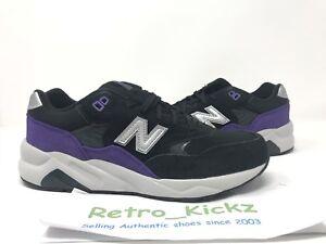 New Balance Kl580bpg 580 Black Purple Lifestyle Retro Running Shoes 7y Gs 889116403239 Ebay