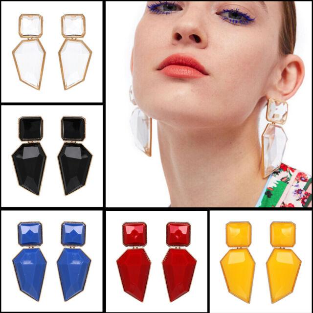 Acrylic Geometric Statement Big Drop Dangle Earrings Women Ear Studs JewelryNIU