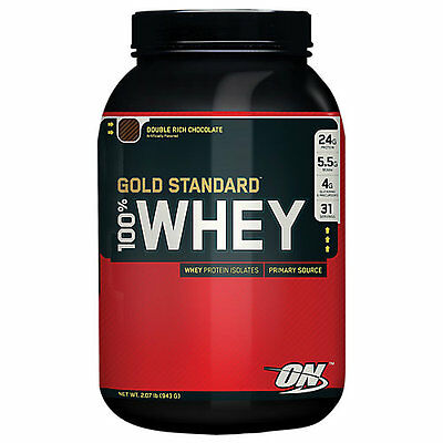 Optimum Nutrition Gold Standard 100% Whey - 2 lb Powder DOUBLE RICH CHOCOLATE
