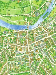 Cityscapes-Rue-Carte-De-Henley-Sur-Thames-400-Piece-Puzzle-47cm-x-32cm