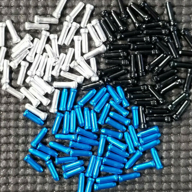 100X//lot cycling brake cable caps bicycles derailleur shift cable end cap/_wk