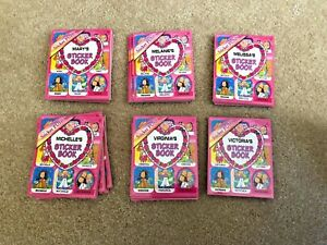 Personalized-Name-STICKER-BOOK-Stick-With-Us-Girls-Funky-Groovy-Stickers-NEW