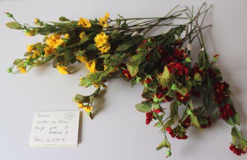 Blumenstrauß NEU #4 Seidenblumen Kunstblumen Rosen rot blau gelb rosa