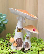 Miniature Dollhouse FAIRY GARDEN ~ Natural Mushroom Houses with Pick ~ NEW