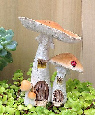 10 X Künstliche gefälschte Pilz Fee Miniatur Dollhouse Ornamente Dekor ~
