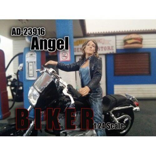 BIKER ANGEL FIGURE 1 24 MODEL BY AMERICAN DIORAMA 23916