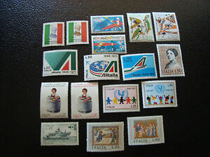 Italy-Stamp-Yvert-and-Tellier-N-1074-A-1090-N-A4-Stamp-Italy