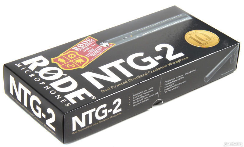 Rode NTG-2 Shotgun Mic w  XLR to 3.5mm Adapter