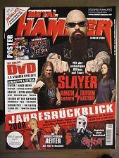 METAL HAMMER 2009 JANUAR - SLAYER AMON AMARTH TRIVIUM MASTODON INCL. POSTER