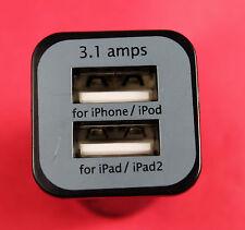 Large Capacity 3.1A Mini Micro Auto Dual Double USB Car Charger For iPhone iPad