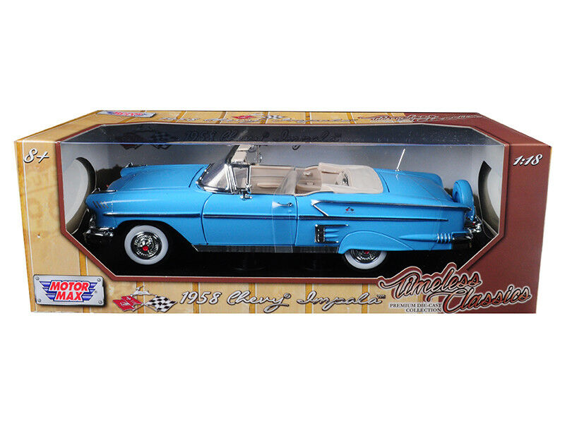 1958 Chevrolet Impala Impala Impala Congreenible Light bluee  Timeless Classics  1 18 Diecast Mo da8fec
