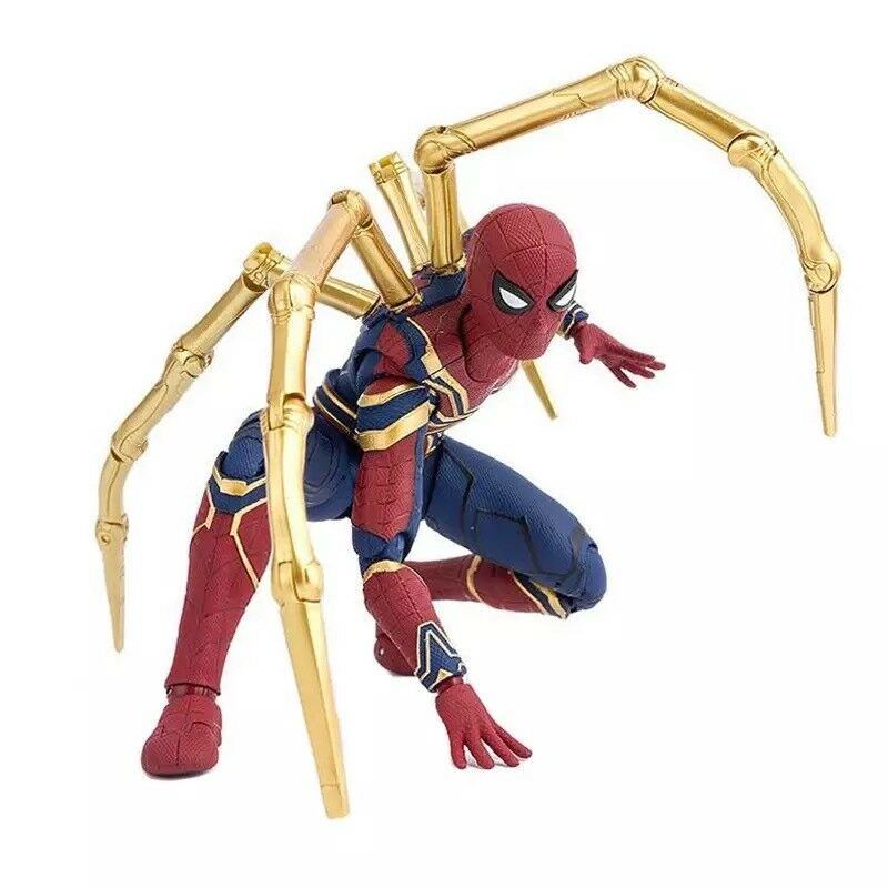 SHF Marvel Avengers Infinity War Iron Spider & Tamashi Stage 15cm BJD Spiderman