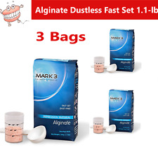 Dental Alginate Impression Material Dustless Fast Set 3 Bags 11lb Per Bag