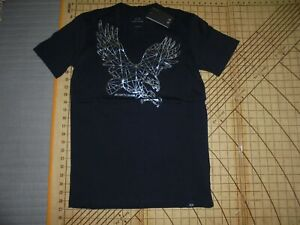 latest style biggest selection reliable quality Details about MENS LARGE BLUE/SILVER METALLIC ARMANI T-SHIRT - NWT