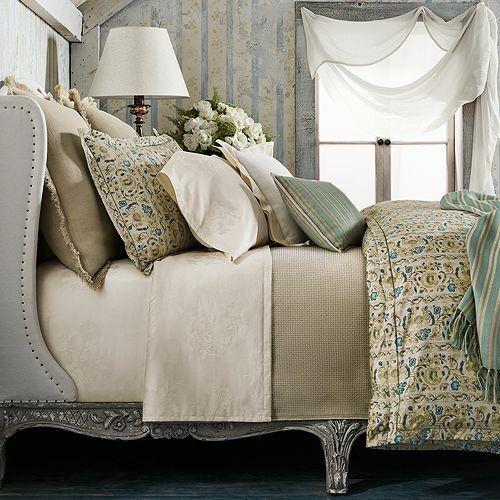 Ralph Lauren Constantina Layla KING Sheet SET Putty Cream Jacquard Floral  500