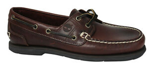 Timberland-2-Eye-Burgundy-Lace-Up-Leather-Boat-Shoe-Mens-25045-D71