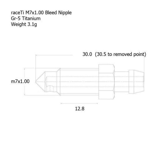 M7 Titanium Bleed Nipple Screw 30.5mm Gr5 Ti brake caliper master valve Packs