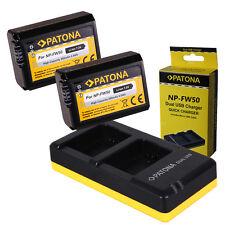 Dual Cargador PATONA + 2x Bateria para Sony NP-FW50 Alpha 5000 6000 Alpha 7 NEX-