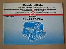 Piezas de recambio lista Deutz motor fl 413 FR/de