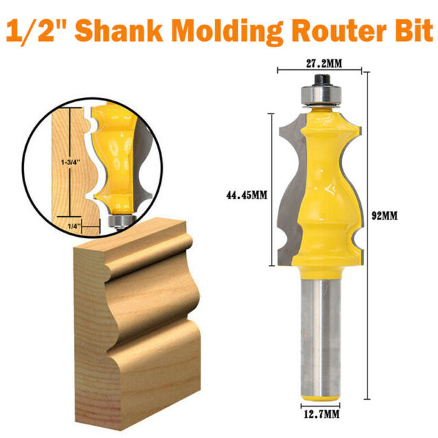 Architectural Molding 1//2/'/' Shank Ogee Chisel Cutter Router Bit For Woodworking