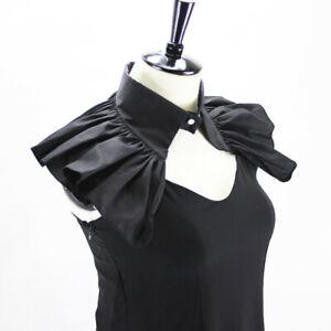 Women-Detachable-Lapel-Choker-Necklace-Shirt-Cloak-Fake-Cotton-False-Collar
