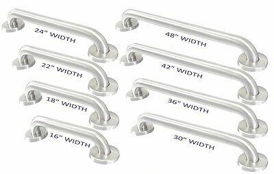 """Stainless Steel Bath Safety Grab Bar 1 1/2"""" OD Heavy Duty Bar"""