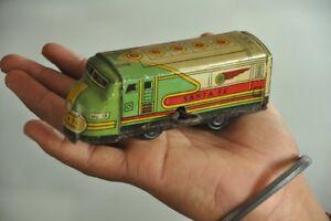 Vintage-Vento-Up-Santa-Fe-No-18-Kdt-Litho-Tram-Cavo-Auto-Latta-Giocattolo