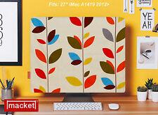 """PC Cover / Dust Jacket - Apple iMac Desktop 27"""" - MACKET - Olive Leaf - UK Made"""