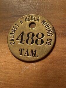 Calumet-and-Hecla-Tamarack-Mine-Branch-Miners-Tag-from-Keweenaw-Michigan