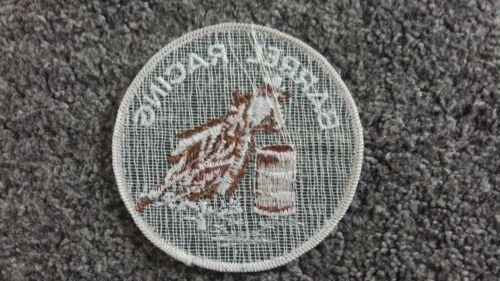 Barril Racing Rodeo Vaquero Parche Bordado Redondo cose en Calgary Stampede 1976