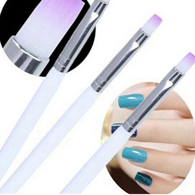 2X Acrylic UV Gel Nail Art Design Pen Polish Painting Brush Manicure Tool Kit Hn